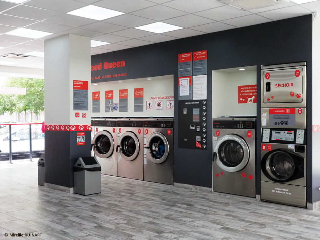 laverie automatique moderne et propre Speed Queen à Reims Saint-Remi
