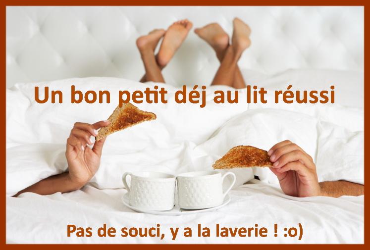 petit dej sous la couette tache cafe the chocolat