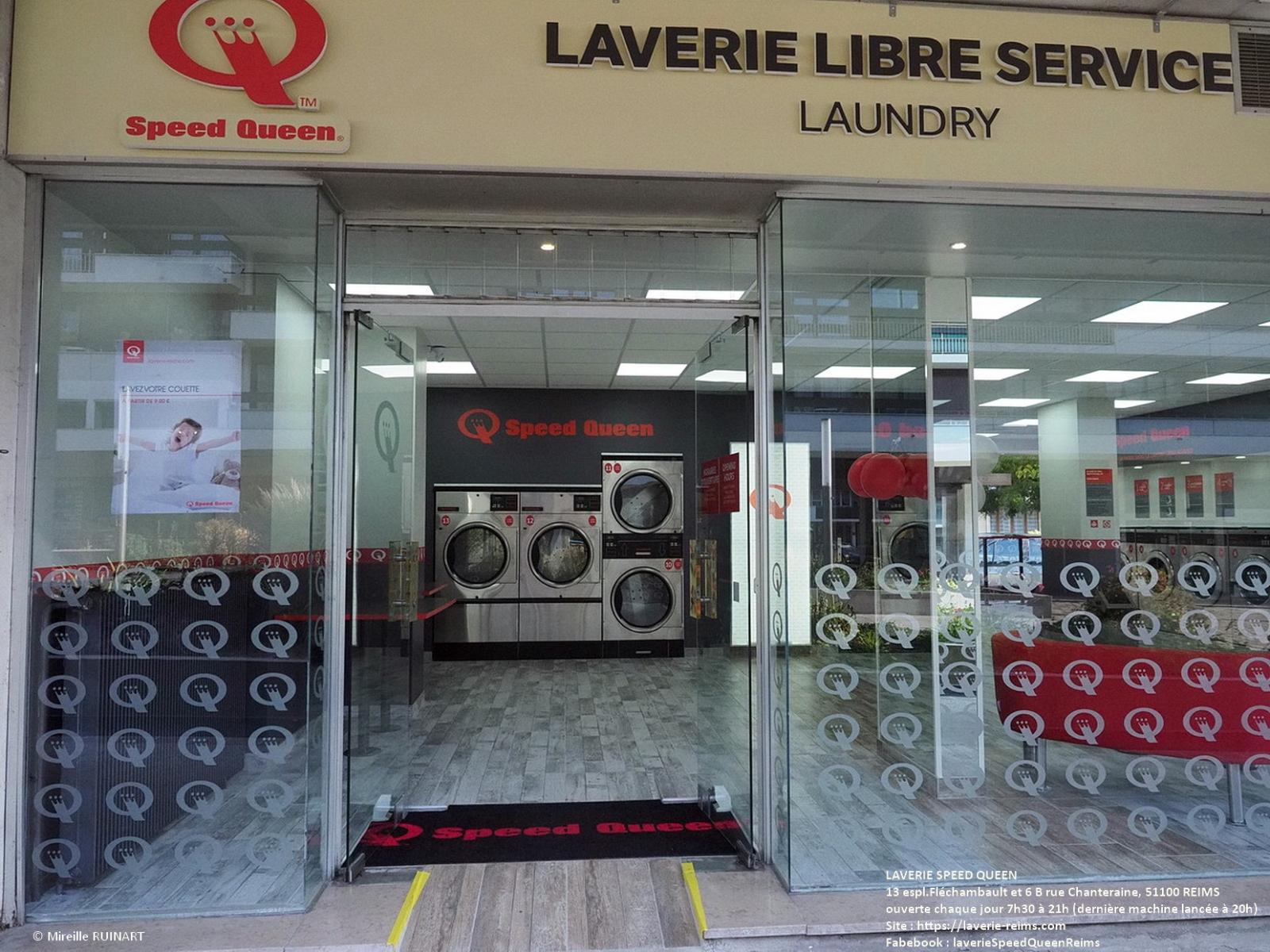 Laverie libre service Speed Queen 13 espl Fléchambault et 6 B rue Chanteraine à Reims