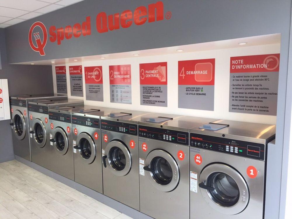 axemple de laverie Speed Queen chaque laverie est a la fois la mame et adaptae aux besoins des clients potentiel alentours